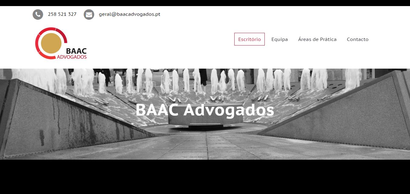 infogenial, websites, sítios web, web development, BAAC Advogados, escritório de advocacia, Arcos de Valdevez