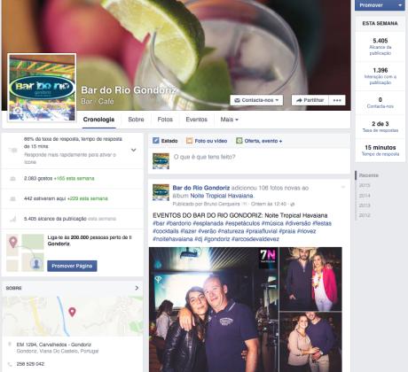 infogenial, gestao de redes sociais, bar do rio, gondoriz, arcos de valdevez