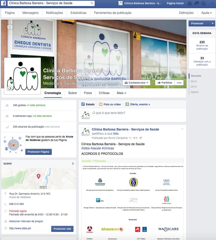 infogenial, gestao de redes sociais, clinica barbaosa barreira, arcos de valdevez