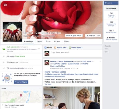infogenial, gestao de redes sociais, helena centro de estetica, arcos de valdevez