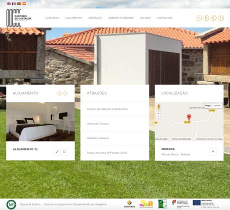 infogenial, websites, sítios web, web development, cantinho do cantador, nascente exótica, turismo no espaço rural, monção